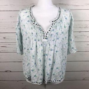 [RL Denim & Supply] Women's Blue floral blouse